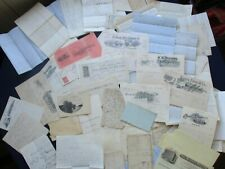 Huge 1830-1900's (100+) Documents,signed letters,misc. old paper lot