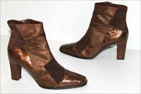 BALLIN Bottines Boots Cuir et Velours Marron Noisette T 38.5 TBE
