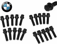 20 14x1.5 Black Cone Seat Lug Bolts Extended Length 40mm & 50mm Fits Audi BMW