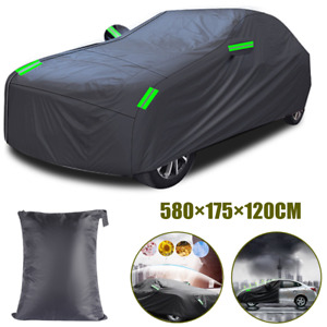 Full Car Cover All Weather Protection Reflective Strips Waterproof UV Resistant