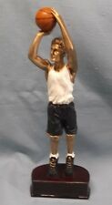 full color male Basketball statue trophy resin Pdu 60505Gs