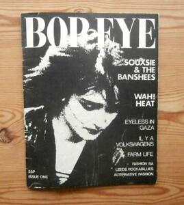 BOP EYE #1 UK 1980 RARE MAGAZINE PUNK SIOUXSIE AND THE BANSHEES WAH! HEAT LEEDS
