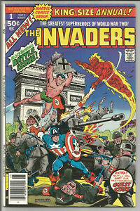 INVADERS KING-SIZE ANNUAL #1 VF+ Alex Schomburg cover Marvel 1977 Sub-Mariner