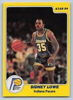 1983-84  SIDNEY LOWE STAR XRC Basketball Rookie Card # 162 - INDIANA PACERS