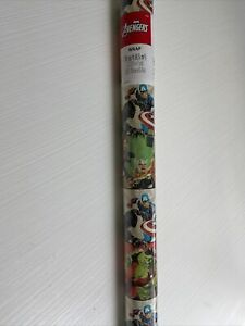 Marvel Avengers Gift Wrapping Paper Black Panther Hulk 3.33' X 7 YARDS BRAND NEW