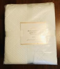 POTTERY BARN Derry Matelasse Quilt Cover QUEEN White 211 x 211cm