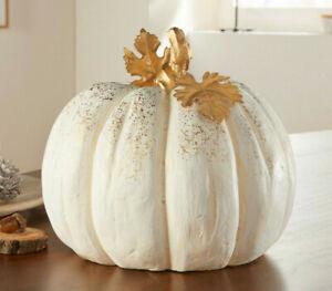 """Großer Kürbis """"White"""", Herbstdekoration, Kürbis, Windlicht, Pumpkin"""