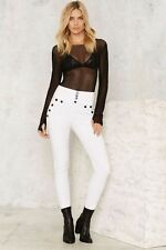 Nasty Gal Ifs Ands or Buttons Trousers in White Sz XS NEW