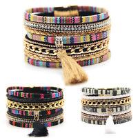 Mode Femme Homme Punk Bracelet gland Cuir Manchette Bracelet Bijoux