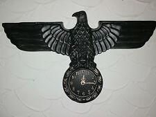 Adler.Wanduhr.Design.Deko.Antik.Reichsadler.1944.Lorbeerkranz.Military