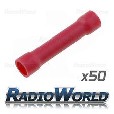 50x aislados Trasero ROJO CONECTORES 0,5 -1,5 empalme terminales de crimpeado eléctricos