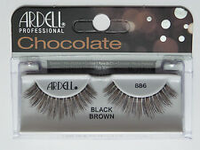 (LOT OF 3) ARDELL Professional Lashes Chocolate Black Brown #886