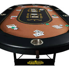 10-Player Poker Table Casino Portable Cards Texas Hold Em Game *Brand New*