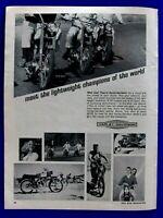 "1966 Harley Davidson Bobcat 175  M 50 Original Print Ad-8.5 x 11"""