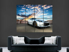 Nissan gtr 35 sport voiture argent énorme large wall art poster photo
