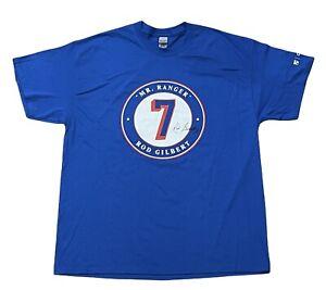 New York Rangers Rod Gilbert Shirt XL MSG- Mr Ranger- w/commemorative patch