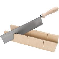 Boîte à onglets en bois + Scie à dos   Outil de Coupe 45° ou 90°   Lame 250 mm