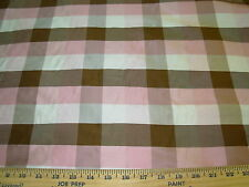 """~4 YARDS~FABRICUT~100% SILK """"CANDY""""  PLAID~UPHOLSTERY FABRIC FOR LESS~"""
