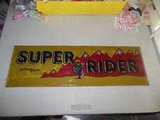 """Sticker On Dark Plexi super rider 23 1/2 -7 3/4"""" arcade game sign marquee"""