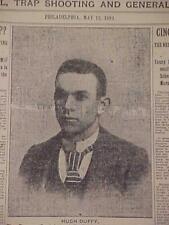 Vintage Journal Headline ~ Boston Baseball Club Hugh Duffy Cincinnati Reds 1899