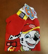 Paw Patrol Toddler Marshall Boy Toboggan Hat and Mittens New With Tags 28d93fdd4b65