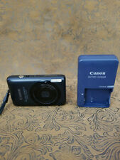 Canon PowerShot ELPH SD1400 IS 14.1MP Digital Camera w/ charger Black tested