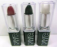 NYC New York Color LIPSTICK TRIO SET OF 3 Black White Red Ultra Last Lipwear NEW