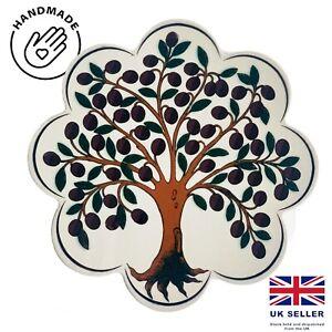 Traditional Turkish Designs Ceramic Daisy Shaped 18.5Cm Trivet Hot Pad Hot Plate