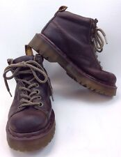 Dr. Martens Hiking AirWair Brown Boots Leather Unisex US 5M EU 37 Bouncing Soles