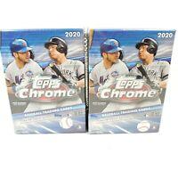 2020 Topps Chrome Baseball Blaster Box (x2) Brand New Factory Sealed MLB IN HAND