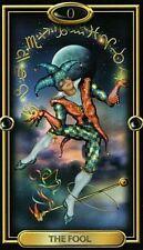 Beautiful Gilded Tarot Deck & Easy Tarot book by Ellershaw & Marchetti
