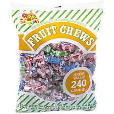 ALBERT'S Fruit Chews, Assorted Flavors, 240 Count