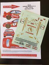 DECALS 1/24 SUBARU IMPREZA WRX BRUNO THIRY RALLYE YPRES 1997 RALLY WRC