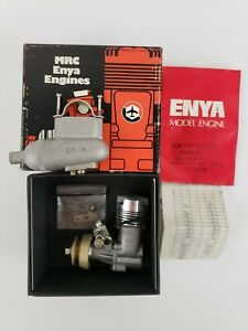 Enya 19-V TV RC Model 4005 Airplane Engine W/ Muffler Excellent In Original Box