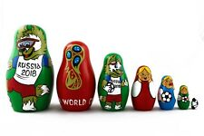 Soccer World Cup 2018 Zabivaka Russian Stacking Nesting Dolls Matryoshka 7 Pcs