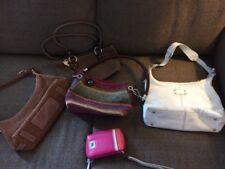 The Sak 5 Piece Ladies Purse Lot Leather Woven