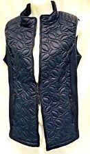plus sz XS/ 14 TS TAKING SHAPE Lost Paths Vest Navy Quilted Coat NWT!$130