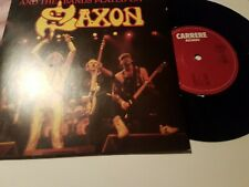 """SAXON - AND THE BAND PLAYED ON 7"""" VINYL SINGLE/PIC/SLEEVE VG+"""