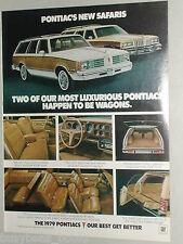 1979 Pontiac advertisement page, Pontiac Safari wagons Bonneville & Grand Lemans