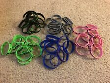 Lot Of 50 Rubber Bracelets Wristbands Video Game 5 Colors Brand New