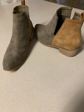 Ladies Ankle Boot By Corkys Faux Suede,leather Size 12M Cross Dresser