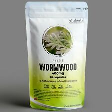 Pure Wormwood 400mg Capsules | Natural Parasite Cleanse |Candida Cleanse | Detox