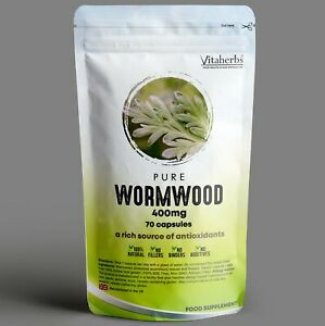 Pure Wormwood 400mg Capsules   Natural Parasite Cleanse  Candida Cleanse   Detox