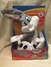 Looney Tunes Show Talking Plush Bugs Bunny Bendable Hands 2012 (RARE) TESTED
