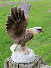 Vintage ROYAL CROWN Porcelain BALD EAGLE America's USA Bird In Flight ANTIQUE