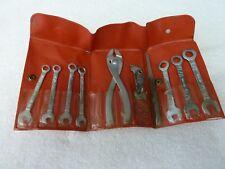 Vintage Midget wrench set  10 PCS w/ Plastic Pouch