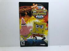 Spongebob Squarepants Movie PS2 MANUAL ONLY Authentic Insert