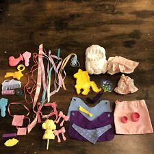 Vintage My Little Pony Lot Combs Outfit Ribbons Shoe car hat purse accessories