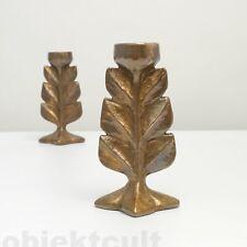 1(2) Harjes Metallkunst Bronze Tischleuchter '2581' Kerzenleuchter Kerzenständer