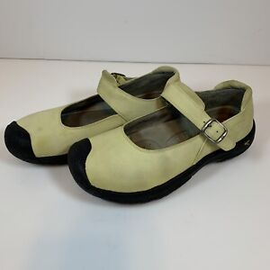 KEEN Womens Mary Jane Lite Mint Grn Leather Sport Walking Hiking Flats Shoes 9.5